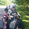 写真: 3日目朝 入場待ちの列