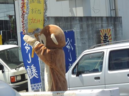 8/3(土) 長良川うかいミュージアムで ゆるキャラたちに会いました。