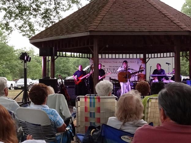 真夏の夜の野外コンサート