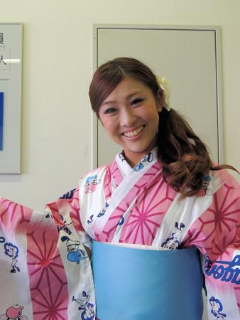 009   ピンクの浴衣、似合ってます☆