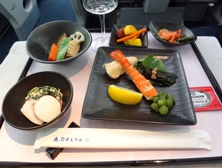 デルタ航空ビジネスクラス和食前菜