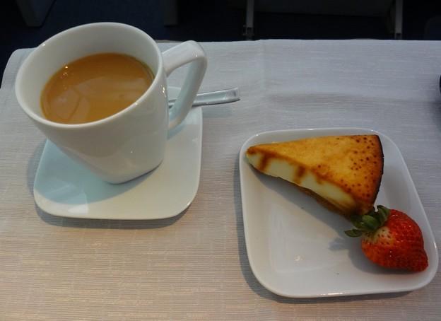 写真: デルタ航空ビジネスクラスデザート