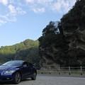 写真: 虫食い岩駐車場