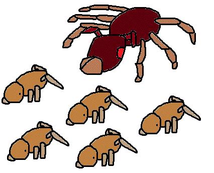 荞麦叶子漫画矢量图