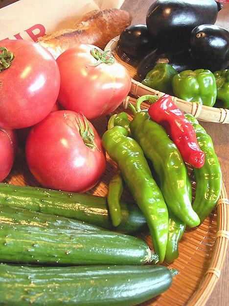 朝採れ野菜♪