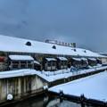 小樽運河最終地点と大同倉庫