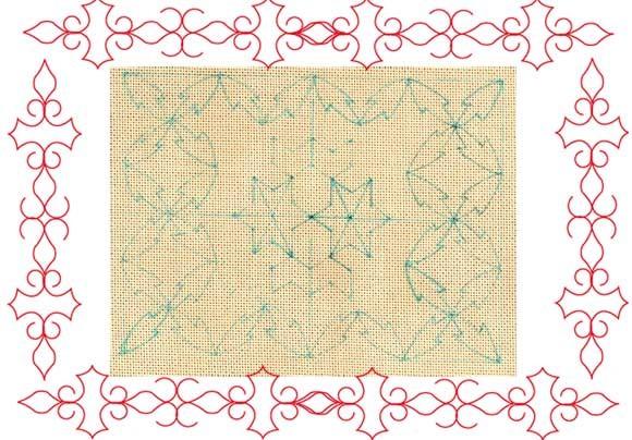 刺し子2/テーブルマット;Needlework  Pattern,Table mat(C)