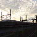 Photos: 早朝の跨線橋から?
