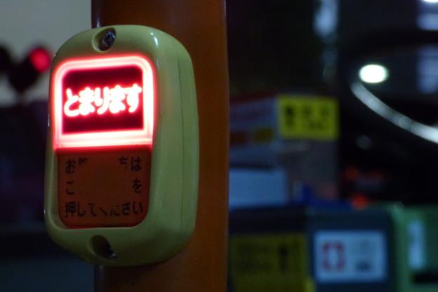 夜の降車ボタン