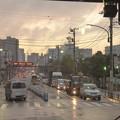 雨上がりの夕方