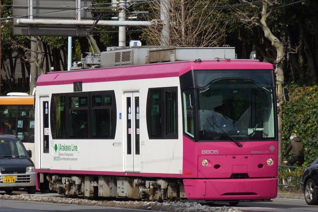 写真: 都電荒川線8805号車