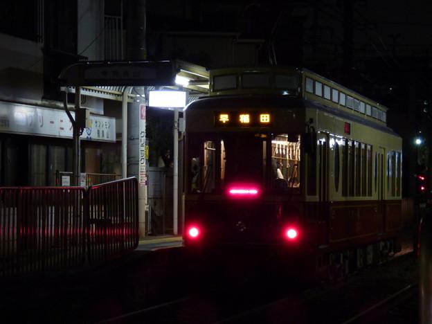 Photos: 夜の飛鳥山電停にて…2014.3.17