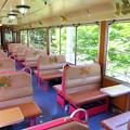 会津鉄道AT351号車車内(トロッコ)