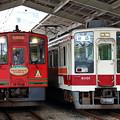 会津鉄道の気動車と野岩鉄道の電車@東武日光駅
