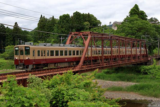 新緑に囲まれる鉄橋