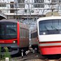 A827T列車と1808列車