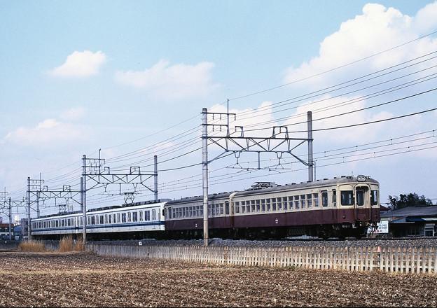 8500型×2編成に牽引される5700型