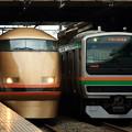 Photos: 東武鉄道100系とJR東日本***系