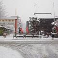 高幡不動尊の雪景色(東京都日野市)