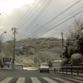 Photos: 爪木崎入口交差点の雪景色(静岡県下田市)