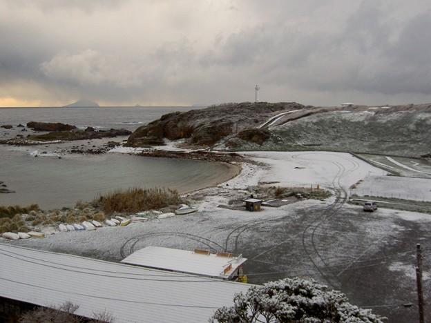 爪木崎の雪景色(静岡県下田市)