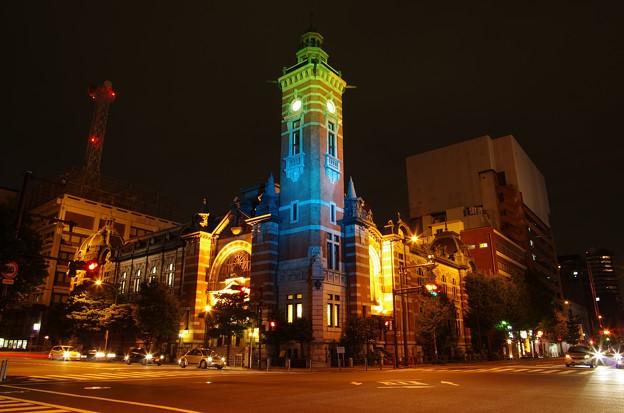 横浜開港記念館の夜景