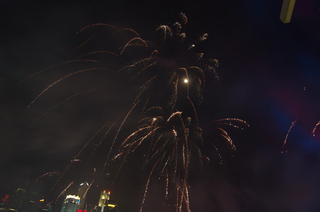 New Year Fireworks 2015 Marina Bay