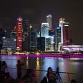 Photos: Night view of Marina bay