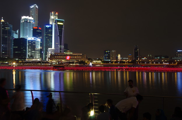 Photos: Night view of Marina bay
