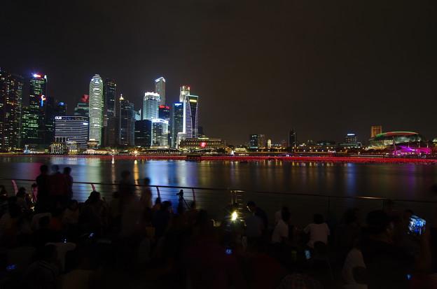 Night view of Marina bay