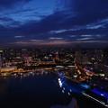 写真: Night view from Sands Sky Park