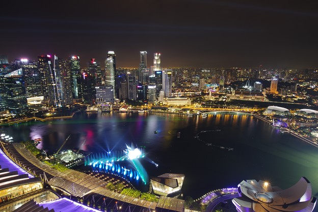 Night view from Sands Sky Park