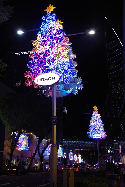 Night view at Orchard Road