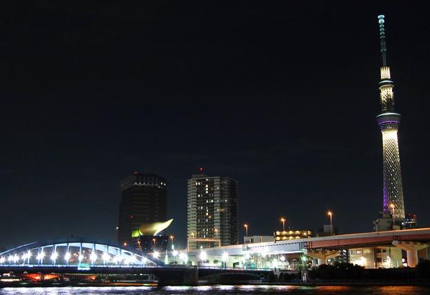 駒形橋とライトアップ雅