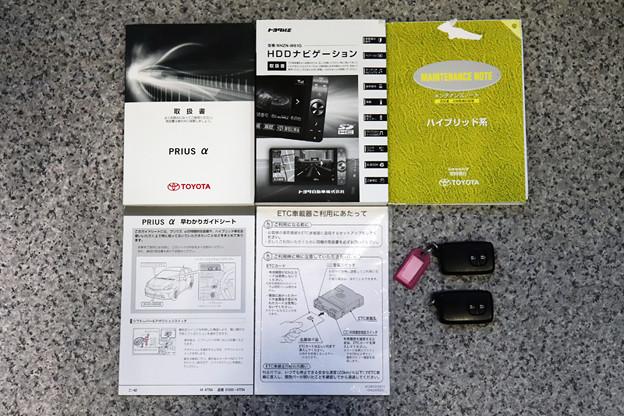 取説、整備手帳(新車保証書付き)、スペアキー等全て完備