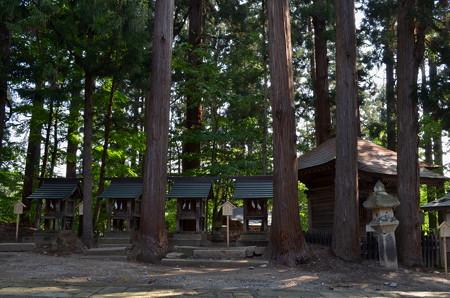 熊野大社・厳島神社・白山神社・義家神社・影政神社
