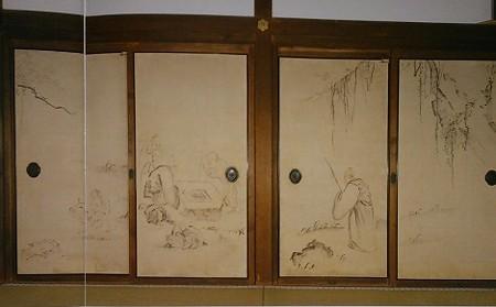 銀閣寺 方丈(本堂)襖絵 池大雅 琴棋書画図