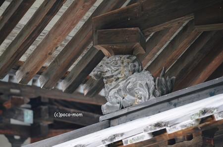 法隆寺金堂支柱飾り 獏 2014年02月10日_DSC_0298