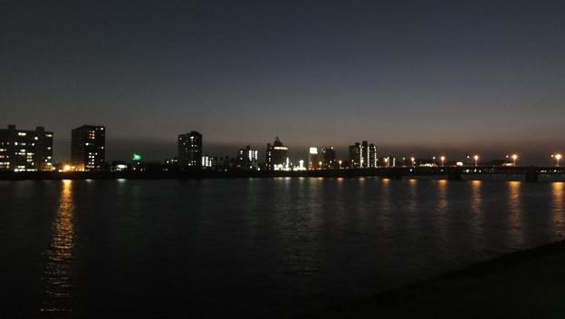 大淀河畔・夜景1