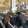 お正月墓参り2