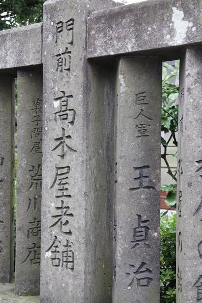 柴又 帝釈天 石柵2