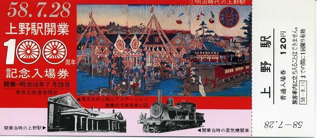 Photos: 上野駅開業100周年記念入場券002