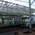 新幹線工事の進む木古内駅