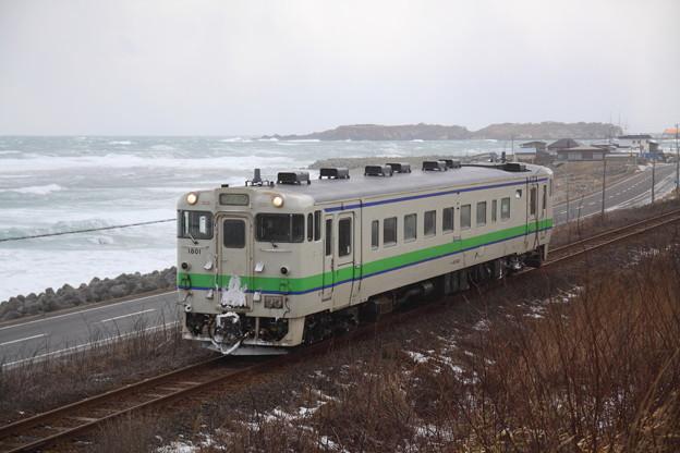 Photos: 鴎島と江差線