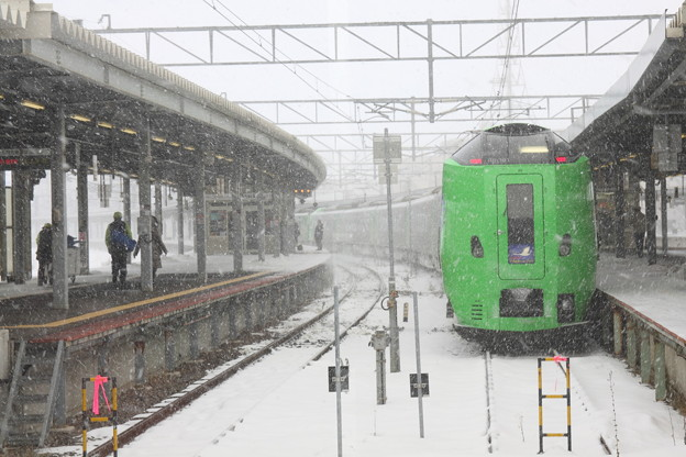 Photos: 吹雪く函館駅