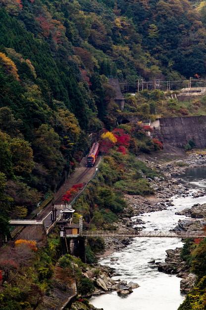 嵯峨野観光線 トロッコ列車