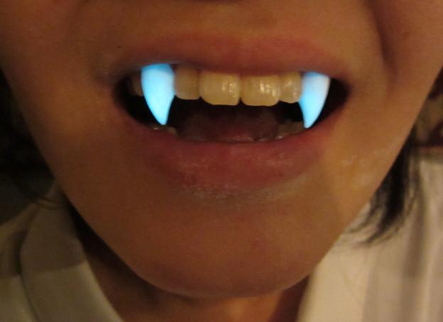 FANG SHOP 付け牙 S-006 ブルー蓄光牙(試作)