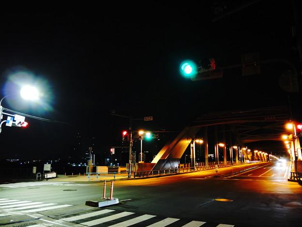 丸子橋 am4:00 (東京都大田区田園調布側)