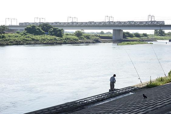 釣り人と東急線