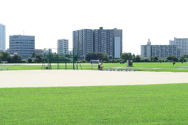 河川敷の球場